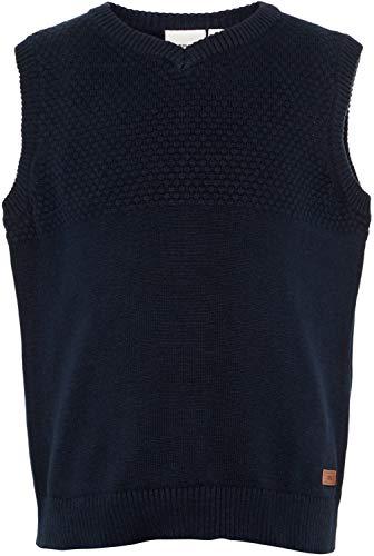 NAME IT Jungen Pullunder V-Ausschnitt Bio-Baumwolle NMMVELTON, Größe:98, Farbe:Dark Sapphire