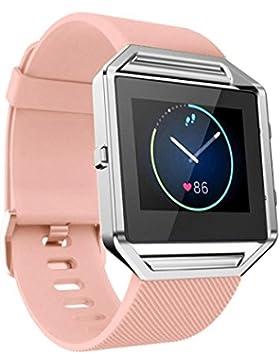Ouneed® Uhrenarmbänder , Weiche Silikon Uhrenarmband Handgelenk Bügel für Fitbit Blaze Smart Watch