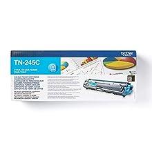 Brother TN245C Toner Originale Alta Capacità, fino a 2200 Pagine, per Stampanti HL3140CW, HL3150CDW, HL3170CDW, DCP9020CDW, MFC9140CDN, MFC9330CDW, MFC9340CDW, Ciano