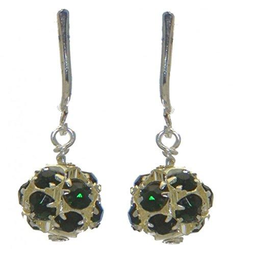rgoldet Emerald Kristall-Clip auf Ohrringe (Emerald Green Ohrringe Modeschmuck)