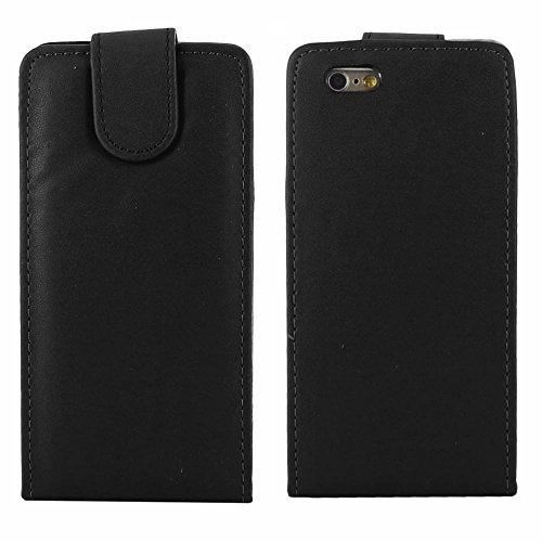 """ebestStar - pour Apple iPhone 6S 6 écran 4.7"""" - Housse Coque Etui Flip Simili Cuir à Rabat vertical, Couleur Noir [Dimensions PRECISES de votre appareil : 138.1 x 67 x 6.9 mm, écran 4.7''] Noir"""