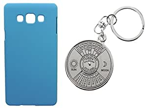 Toppings Hard Case Cover With 50 Years Calender KeyChain For Samsung Galaxy A5 - Skyblue