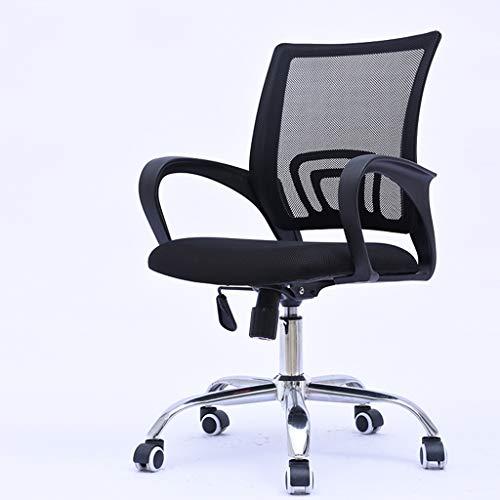 Bürostühle mit armlehnen und rückenstütze mesh, verstellbarer drehbarer computer schreibtisch stuhl einfache montage-black