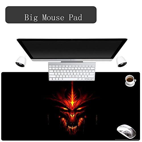 Super große Mauspad Naturkautschuk Material wasserdicht Schreibtisch Gaming Mousepad Tischsets für Dota LOL PUBG Überraschung, Muster wie abgebildet, runder Durchmesser 31cm (Ein Wie Man Lol)