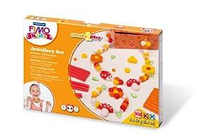 Staedtler 8033 02. Pasta de modelar para niños Fimo Kids Create & Play Jewellery Flowers. 4 pastillas de colores.