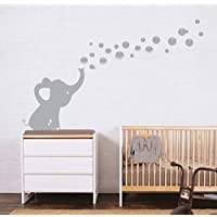 SaYaLa Elephant Bubbles Wall Stickers,Nursery Elephant Decal Sticker,Nursery Baby Boy and Girl