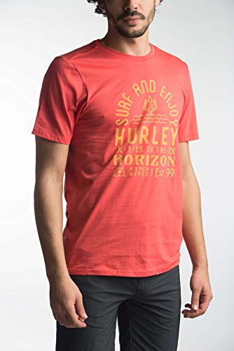 Hurley EYES ON THE HORIZON PRM TEE SS T-Shirt Homme track red FR   87a61950c52