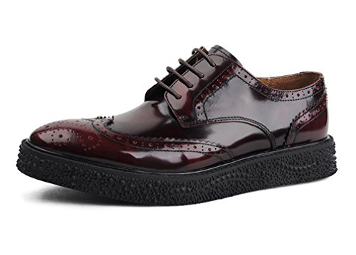 Dilize Einzigartige Dicke Sohle Herren Halbschuhe Oxford Schuhe in Leder (Penny Moc)
