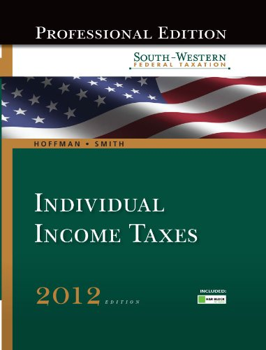 south-western-federal-taxation-2012-individual-income-taxes-with-hr-block-home-tax-preparation-softw