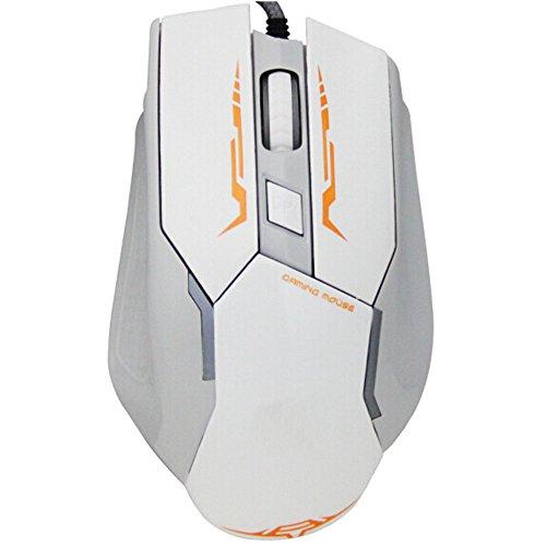 Einstellung Bar (Sojewe Weiß Hoch-Präzision Professional Spiel Leichtathletik Mäuse Gaming Mäuse USB2.0 Interface Verdrahtet Optische Mäuse 2000DPI Freie Einstellung für Internet Bar)
