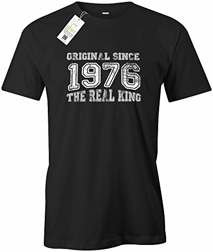 ORIGINAL SINCE 1976 - THE REAL KING - HERREN - T-SHIRT Schwarz