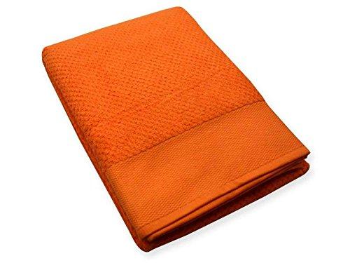 Telo Bagno Caleffi In Spugna da 550 Grammi Misura Grande cm 100 x 150 Offerta Colore arancione