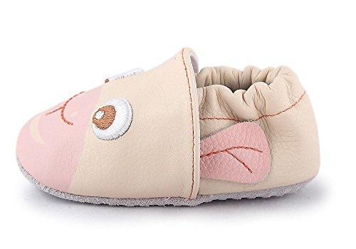 Cartoonimals Babyschuhe Mädchen Jungen Neugeborene Weiche Rutschsicheren Baby Kinder Schuhe Chimpy Beige