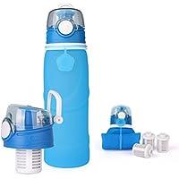 Q-ZOOY Botella De Agua Plegable De La Bebida De Los Deportes Del Silicón Al Aire Libre, Biking, Viaje,Blue