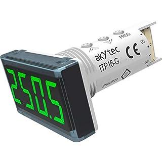 AKYTEC Digitales Einbaumessgerät ITP16-G Temperaturanzeige ITP16 (grün)