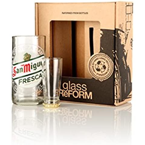 RICICLATO SAN MIGUEL BEER GLASS BOTTLE &
