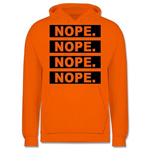 Statement Shirts - Nope. - Männer Premium Kapuzenpullover / Hoodie Orange