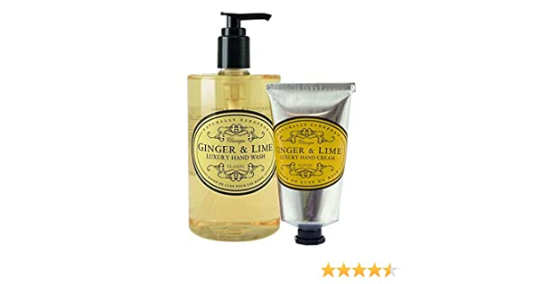 Naturally European Ginger & Lime Hand Wash & Hand Cream Duo Pack | Moisturing Shea Butter Hand Cream | Hand Cream for Dry Hands | NO SLS or Parabens