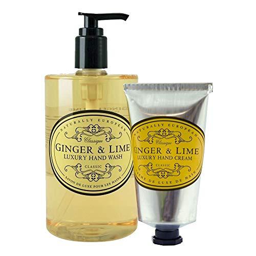 Naturally European Ginger & Lime Hand Wash & Hand Cream Duo Pack Hand Wash Duo