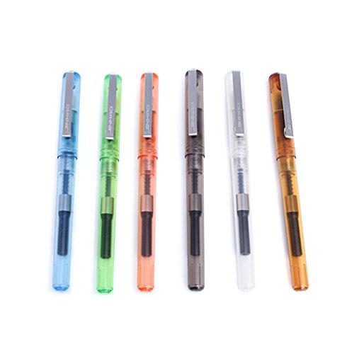 Exing stylo-plume, fine plume, coquille transparente, stylos de calligraphie adapté à la norme de cartouches d'encre, cadeau d'outil d'écriture, livraison aléato
