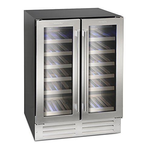 41E7kS074dL. SS500  - Montpellier WS38SDDX Dual Zone 38 bottle Wine Cooler in Stainless Steel