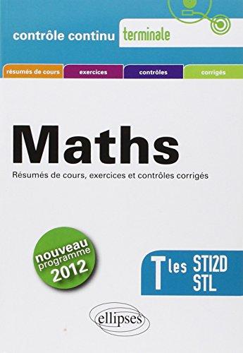 Mathématiques Tles STI2D STL : Programme 2012