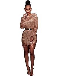 Damen Kleid Party Kleider IHRKleid Beach Bluse Kleid Hollow Wool Skirt Klassiker
