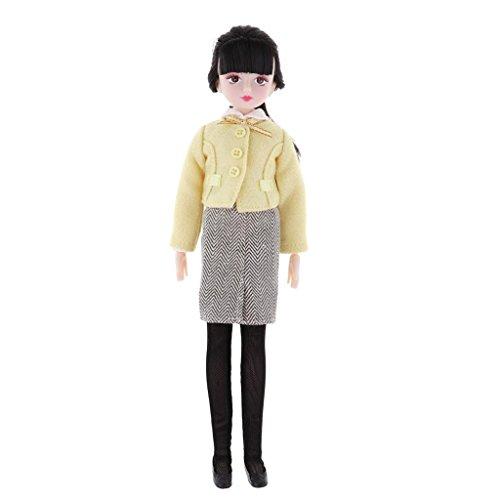 Homyl Modische1/6 Puppe Schuluniform / Stewardess Uniform + 18 Gelenke Nackte Puppenkörper + Puppenschuhe Satz, Kinder Spielzeug - Lehrerin