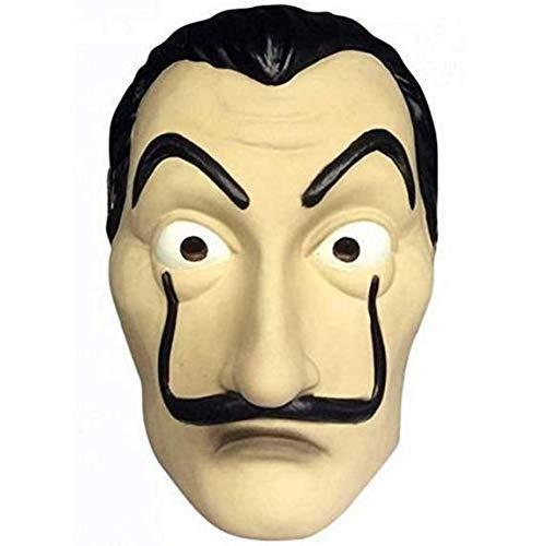 QYWSJ Salvador Dali Maske, Latex Maske Halloween Maske, Neuheit Rollenspiel Kostüm, verwendet für Halloween Ostern Weihnachten Maskerade Bar Dekoration Festival