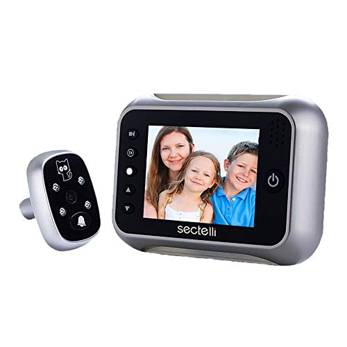 "YLXD Video TüRklingel Türsprechanlage, Video Doorbell, Digitaler Türspion, Home Smart,Security Kamera Visuelle Tür, Elektronische Cat Eyes 3,5"" Digital LCD,120 Grad Peephole,Überwachung"