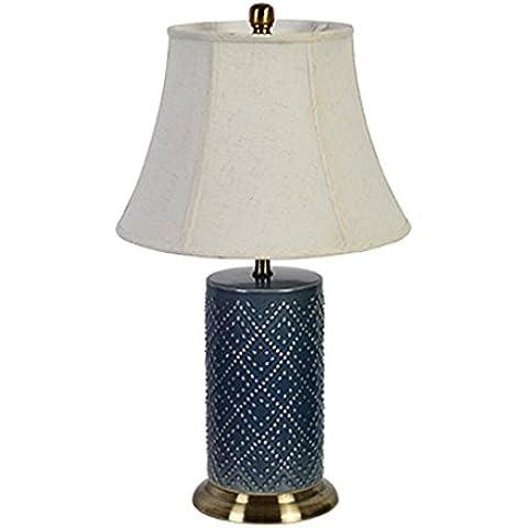 Inicio Monopoly Lámpara de mesa de cerámica de gama alta Lámpara de cabecera Dormitorio de luz -E27 40W * 1 ( Color : 2