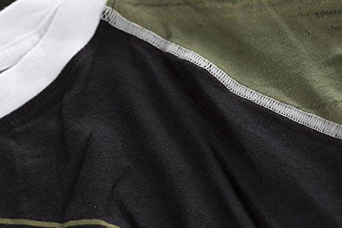 Affliction T-Shirt Molon Labe Schwarz Grün