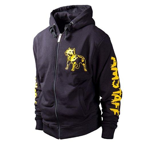 Amstaff Zip Hoody Logo Black/yellow