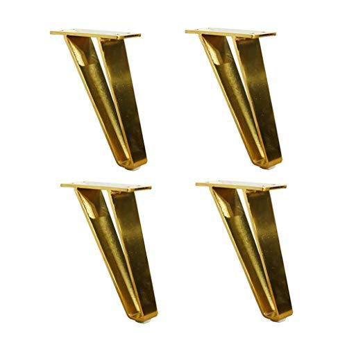 Nordischer Stil Möbelfüße,4 STÜCKE Metall Schwere Möbel Beine Massivem Kohlenstoffstahl Für Zuhause DIY Couchtisch TV Ständer Sofa Beistelltisch Gold-18CM - Gold-metall-bett-satz