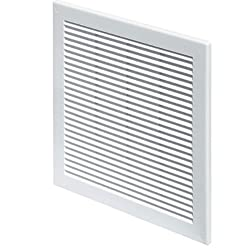 """Air Vent Grille Cover 200x300mm 8x12"""" Plastic Ventilation Cover With Insect Grid White"""