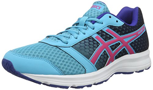 Asics Damen Patriot 8 W Laufschuhe Blu (Aquarium/Sport Pink/Deep Blue)