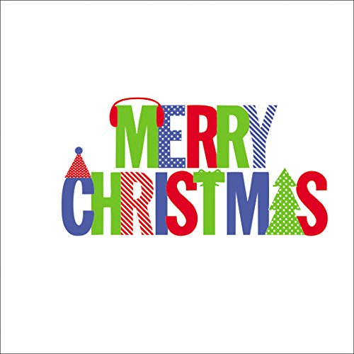 CY-Buity 42* 80cm Designs Lovely Colorful Buchstaben Merry Christmas Windows Aufkleber Abnehmbare Aufkleber Geschenk Wandbild Poster Home Decor Windows-buchstaben-aufkleber