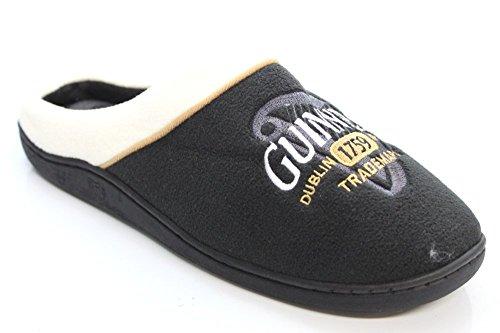 Pour Homme Nouveau officiel Guinness Noir/crème/Mule Pantoufles Chaussures Taille UK 7–45 Noir