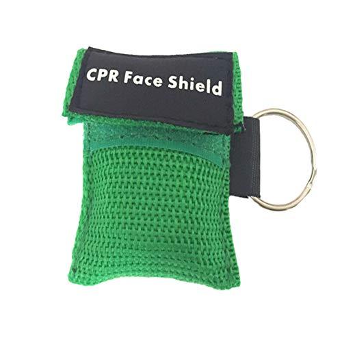 Demarkt 1 Stücke CPR Maske mit Karabinerhaken CPR Mask RESPI-Key Beatmungsmaske Schlüsselanhänger Beatmungshilfe Notfalltuch Taschenmaske Erste Hilfe