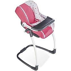 Smoby - 240231 - Bébé Confort - Siège + Chaise Haute pour Poupon 3 en 1