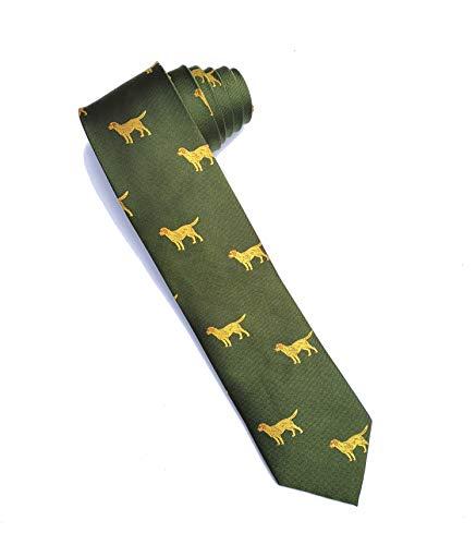 Cave Canem Krawatte Alexander, grün, Hundemotiv - klassisch, sportlich, elegant (Seide)