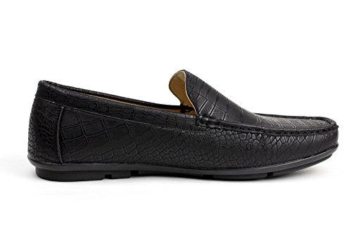 Mocassino Di Stile Casuale Nero Di Scarpe Modello Uk Numero Gli Mocassini Uomini Di Chic Indossare Scarpe Coccodrillo 0FxUPqvwnO