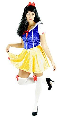Foxxeo Schneewittchen Kostüm für Damen mit Kleid und Haarreif für Fasching Karneval Märchen Motto-Party Größe (Günstige Schneewittchen Kostüm)