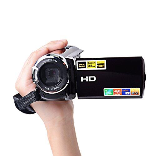 Full HD 1080P 16X Zoom numérique Caméscope 20MP Caméra Vidéo 3.0 pouces TFT LCD écran Tactil