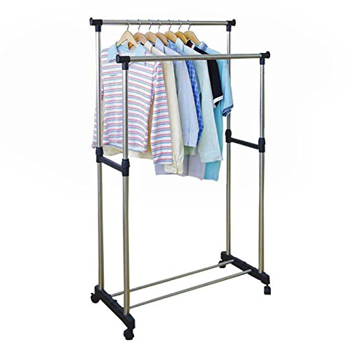 Tied-Ribbons-Stainless-Steel-Clothes-hanger-stand
