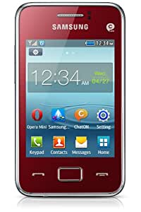Samsung Rex 80 Téléphones portables débloqués 3 pouces 0.02 Go Système propriétaire Rouge (import Europe)