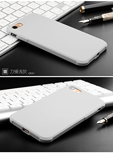 "Gukas Housse Coque Gel Silicone Case Cover Pour Apple iPhone 7 / iphone 8 4.7"" TPU Ultra Slim Soft Rubber Shock Absorber Flexible Bumper Protective Etui (Gris) Gris"