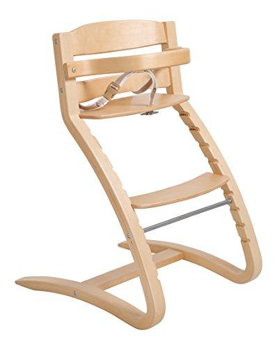 Roba Treppenhochstuhl \'Grow Up\', Design Hochstuhl, moderner Holzhochstuhl mitwachsend vom Babyhochstuhl bis zum Jugendstuhl, Holz, natur