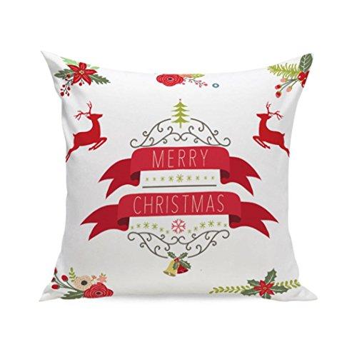uper Soft Square Dekokissen Fall Dekorative Kissen Kissenbezug (F, 45 x 45 cm) (Minions Weihnachten Dekorationen)