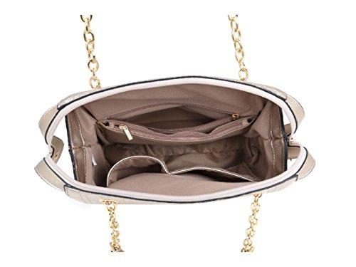 LeahWard® Damen Handtaschen Damen Klein Größe Taschen Essener Qualität Mode Kunstleder Kreuzbeutel CW51018 CWLM6645 CWLM66163 CWLM66163-Grün